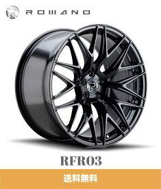 ジープ グランドチェロキー用 ロマノ RFR03 22x10.5J PCD 5x127 グロスブラック ROMANO RFR02 22X10.5 5/127 GLOSS BLACK ホイール4本セット (送料無料)