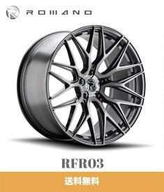 テスラモデルX用 XO ロマノ RFR03 20x9J PCD 5x120 チタニウムブラッシュ TESLA MODEL X ROMANO RFR02 TITANIUM BRUSHED ホイール4本セット (送料無料)