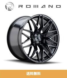 メルセデス ベンツ Gクラス (Mercedes Benz G-Class)用 ロマノ RFR03 ブラック 22インチホイール4本セット ROMANO RFR03 Black 22 inch Wheels for Mercedes-Benz G-Class (送料無料)