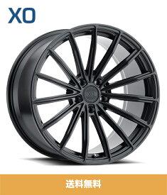 XO エックスオー London ロンドン 22x9J フロント 22x10.5J リア PCD 5/112 ハブ径 66.56 mm Matte Black マットブラックカラーホイール4本セット (送料無料)