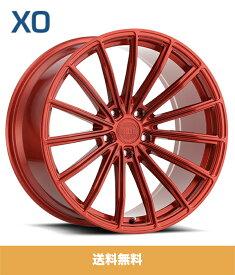 XO エックスオー London ロンドン 22x9J フロント 22x10.5Jリア PCD 5/112 ハブ径 66.56 mm Red レッドカラーホイール4本セット (送料無料)