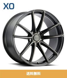 XO エックスオー Madrid マドリード 22x9J フロント 22x10.5J リア PCD 5/112 ハブ径 66.56 mm Matte Black Brushed Tinted Face マットブラックブラッシュドティントファイスカラーホイール4本セット (送料無料)