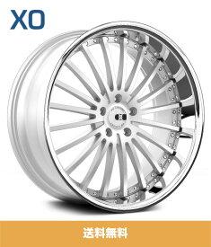 XO エックスオー New York ニューヨーク22x9J フロント 22x10.5J リアPCD 5/112 ハブ径 66.56 mmSilver Brushed Face Stainless Lipシルバーブラッシュドファイスステンレスリップカラーホイール4本セット (送料無料)