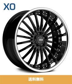 XO エックスオー New York ニューヨーク22x9J フロントリアPCD 5/112 ハブ径 66.56 mmGloss Black Stainless Lipグロスブラックステンレスリップカラーホイール4本セット (送料無料)