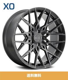 XO エックスオー Phoenix フェニックス19x9.5J フロント 19x11J リアPCD 5/112 ハブ径 66.56 mmDouble Black (Matte Black Gloss Black face) ダブルブラック(マットブラック、グロスブラックフェイス)カラーホイール4本セット (送料無料)