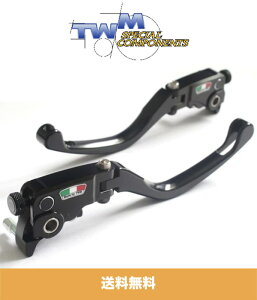 2006年から2008年式 ドゥカティ モンスター S4RS DUCATI Monster S4RS - 2006 to 2008用 TWM GP スタイル 調整可能、折りたたみ式ブレーキ、クラッチレバーセット TWM GP STYLE ADJUSTABLE AND FOLDING LEVERS FOR DUCATI (送