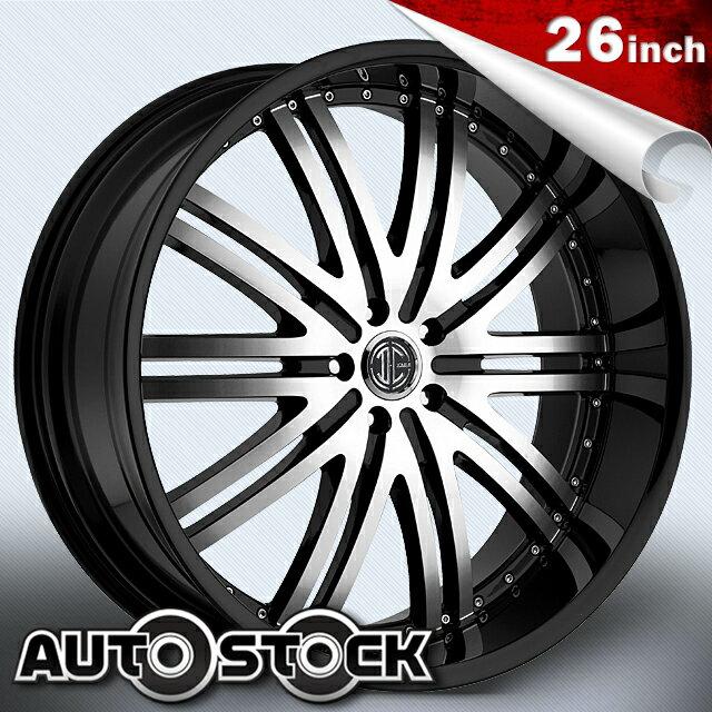 2CRAVE No.11 ナンバー11 26インチ タイヤ・ホイールSETBlack Machined Glossy Black ブラックマシンドグロスブラック2クレーブ【送料無料】【タイヤホイールセット】【2CRAVE】