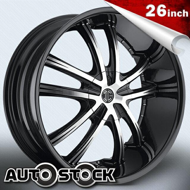 2CRAVE No.21 ナンバー21 26インチ タイヤ・ホイールSETBlack Machined Glossy Black ブラックマシンドグロスブラック2クレーブ【送料無料】【タイヤホイールセット】【2CRAVE】