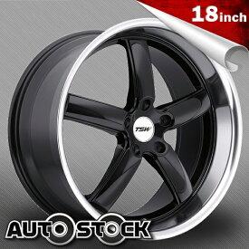 TSW STOWE (ストウ) 18インチ タイヤ・ホイールSET Gloss Black w/ Mirror Cut Lip (グロスブラック/ミラーカットリップ) 【送料無料】【タイヤホイールセット】【TSW Wheel ホイール】