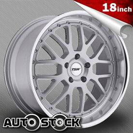 TSW VALENCIA (ヴァレンシア) 18インチ タイヤ・ホイールSET Silver w/ Mirror Cut Lip (シルバー/ミラーカットリップ) 【送料無料】【タイヤホイールセット】【TSW Wheel ホイール】
