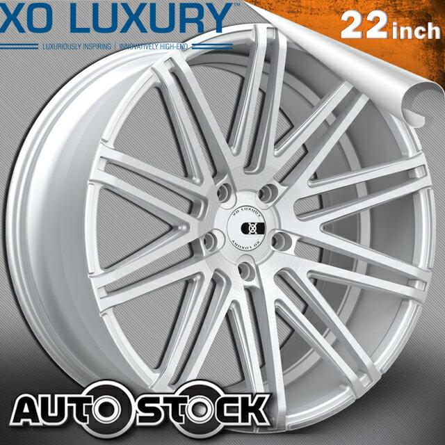 XO LUXURY MILAN (ミラン) 22インチ 9J ホイール4本SET カラー Brushed Silver ブラッシュドシルバー PCD・オフセットはお好きなサイズで作成致します! 送料無料 ホイールセット XO Luxury エックスオー セミオーダーメイドホイール