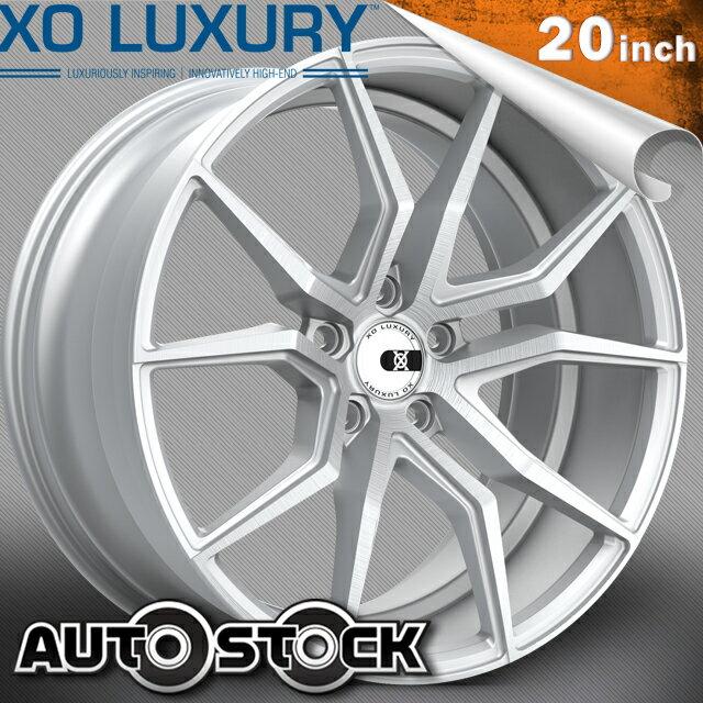XO LUXURY VERONA (ヴェローナ) 20インチ 8.5J ホイール4本SET カラー Brushed Silver ブラッシュドシルバー PCD・オフセットはお好きなサイズで作成致します! 送料無料 ホイールセット XO Luxury エックスオー セミオーダーメイドホイール