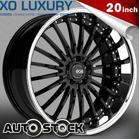 XO Luxury X130 NEW YORK ニューヨーク 20インチ タイヤ・ホイールSET GLOSS BLACK グロスブラック エックスオー 送料無料 タイヤホイールセット XO