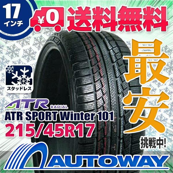 ATR RADIAL ATR SPORT Winter 101 215/45R17 【スタッドレス】【2018年製】【送料無料】 (215/45/17 215-45-17 215/45-17) 冬タイヤ 17インチ