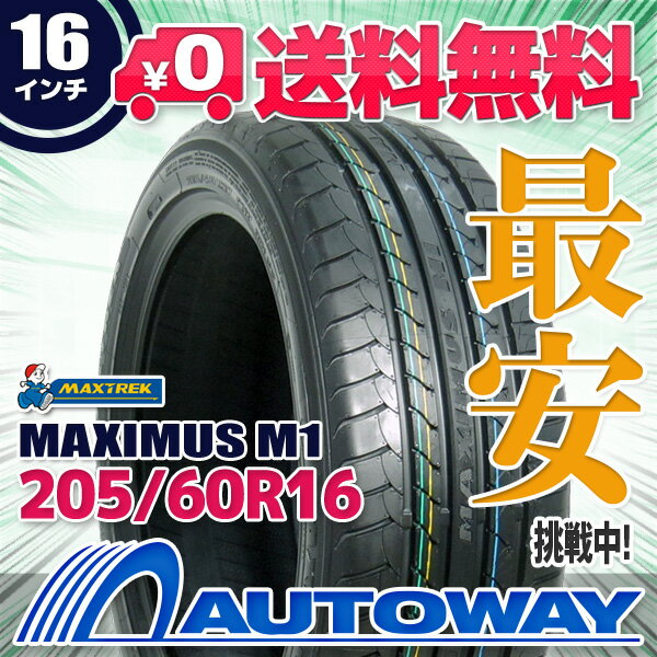 MAXTREK (マックストレック) MAXIMUS M1 205/60R16 【送料無料】 (205/60/16 205-60-16 205/60-16) サマータイヤ 夏タイヤ 単品 16インチ