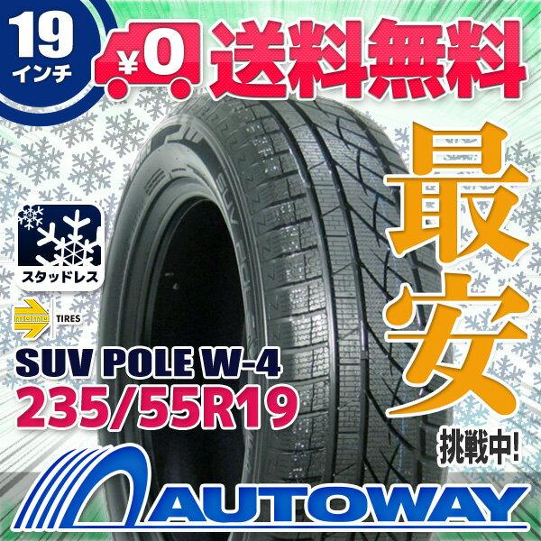 MOMO Tires (モモ) SUV POLE W-4 235/55R19 【スタッドレス】【2018年製】【送料無料】 (235/55/19 235-55-19 235/55-19) 冬タイヤ 19インチ