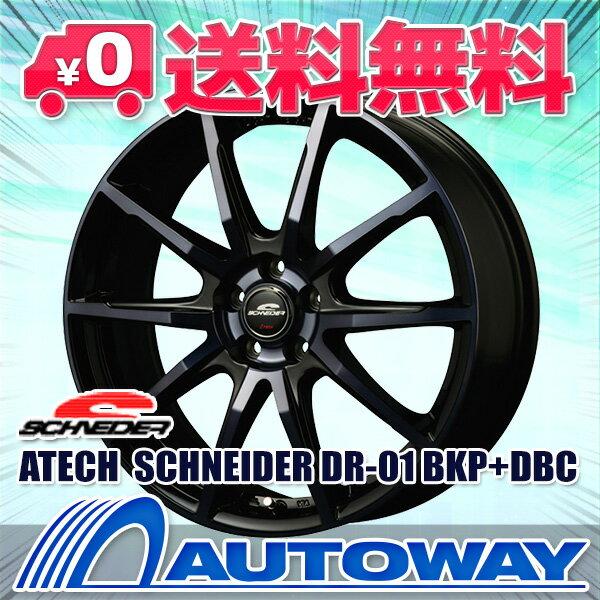 245/45R18 サマータイヤ タイヤホイールセット 【送料無料】ATECH SCHNEIDER DR-01 18x8.0 +45 114.3x5 BKP+DBC + HF805 (245-45-18 245/45/18 245 45 18)夏タイヤ 18インチ 4本セット 新品