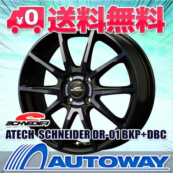 195/55R16 サマータイヤ タイヤホイールセット 【送料無料】ATECH SCHNEIDER DR-01 16x6.0 +43 100x4 BKP+DBC + Corsa Ultimate (195-55-16 195/55/16 195 55 16)夏タイヤ 16インチ 4本セット 新品