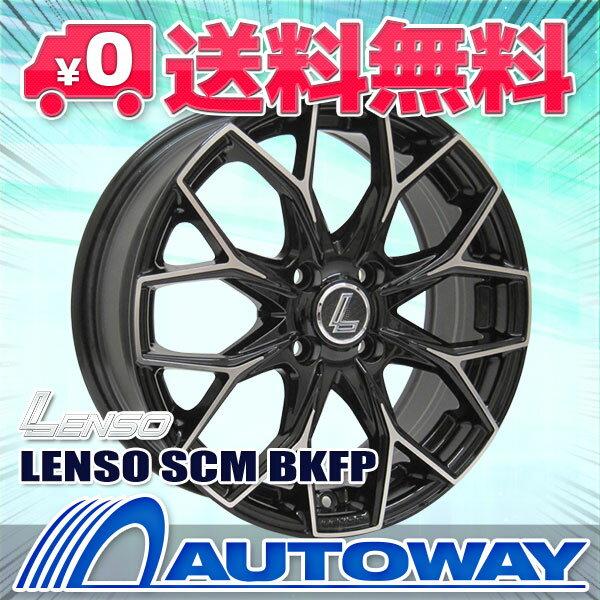 195/55R16 サマータイヤ タイヤホイールセット 【送料無料】LENSO SCM 16x6.5 +43 100x4 BKFP + Corsa Ultimate (195-55-16 195/55/16 195 55 16)夏タイヤ 16インチ 4本セット 新品