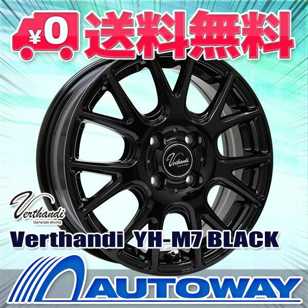 185/65R15 サマータイヤ タイヤホイールセット 【送料無料】 Verthandi YH-M7 15x5.5 50 100x4 BLACK + ROADSTONE CP672 185/65R15 88H (185/65/15 185-65-15) 夏タイヤ 15インチ