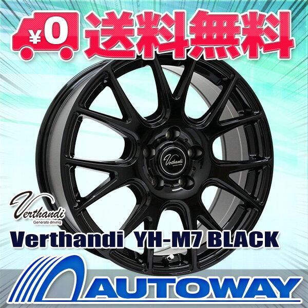 225/45R18 スタッドレスタイヤ ホイールセット 【送料無料】【2018年製】 Verthandi YH-M7 18x8.0 40 114.3x5 BLACK + NANKANG ESSN-1 225/45R18 95Q XL スタッドレス (225/45/18 225-45-18) 冬タイヤ 18インチ