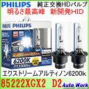 フィリップス 純正交換HIDバルブ D2S D2R 共通設計 エクストリーム アルティノンHID 6200K 3300lm PHILIPS 85222XGX2 ...