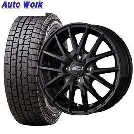 新品タイヤ 4本セット マルカ SCHNEIDER SQ27 5.5J-14 +38 100 4H ダンロップ WINTER MAXX 01 185/70R14 格安スタッドレス 国産