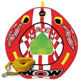 バナナボート トーイングチューブ マリンスポーツ WOW (ワオ) エースレーシング 2点セット ロープ付 1人乗り
