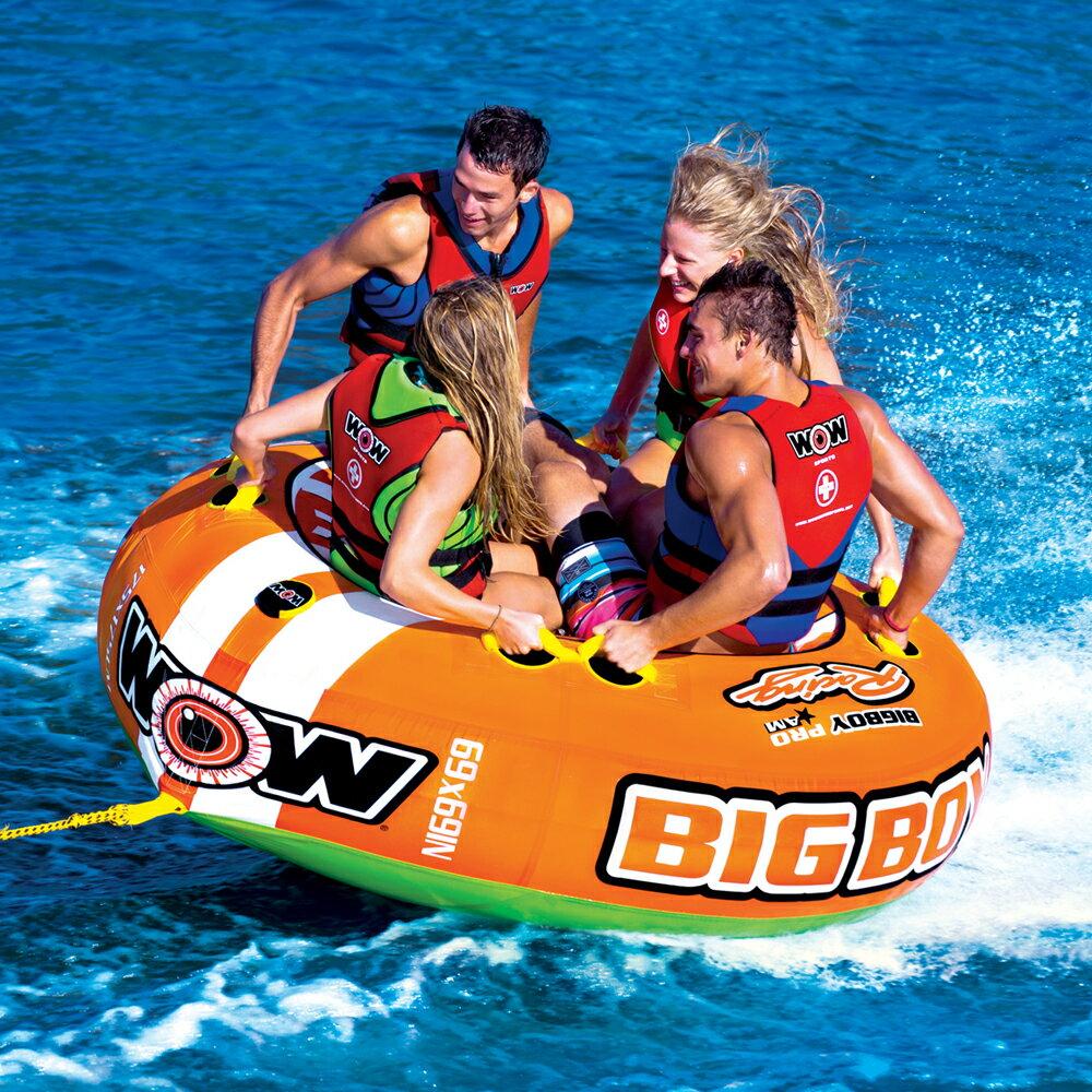 バナナボート トーイングチューブ 4人乗り マリンスポーツ WOW ワオ BIGBOY RACING ビッグボーイレーシング 4人乗り