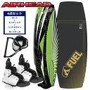ウェイクボード セット ビンディング 25〜30cm AIRHEAD(エアーヘッド) リップスラッシュ ウェイクボード 4点セット