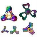【送料無料】ハンドスピナー Handspinner金属製 虹色 カラフル Vacuum plating color 玩具 おもちゃ 指スピナー レイ…