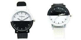 モノクロ バイカラー ウォッチ 腕時計 メンズ レディース オシャレ ユニーク デザイン