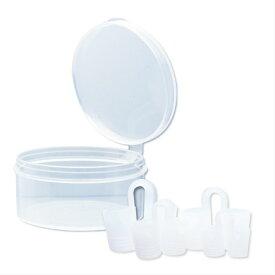 クリア ノーズピン 鼻づまり いびき対策グッズ 鼻呼吸 サポート (4個入り)