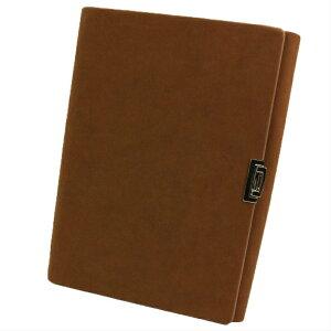 ビジネスノート システム手帳 A5紙90枚 レザー製 ポケット&ペンホルダー付き 交換可能 (ブラウン)