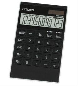 CITIZEN/シチズン デザイン電卓 12桁表示 DES1200BL ブラック