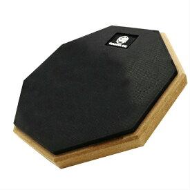 練習用 ドラムパッド ラバー 高弾 静音 8インチ トレーニング 自宅練習 (ブラック)