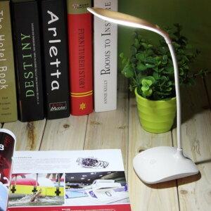 LED読書ライト 調節可能 USB充電式タッチセンサー デスクテーブルランプ