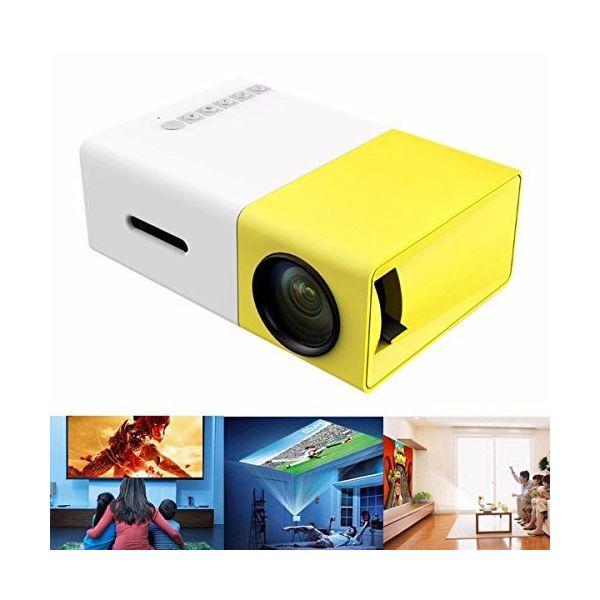 ミニプロジェクター ホームシネマ スライド映写機 スクリーン投影 HD480x320 解像度 HD1080P 【アウトレット】