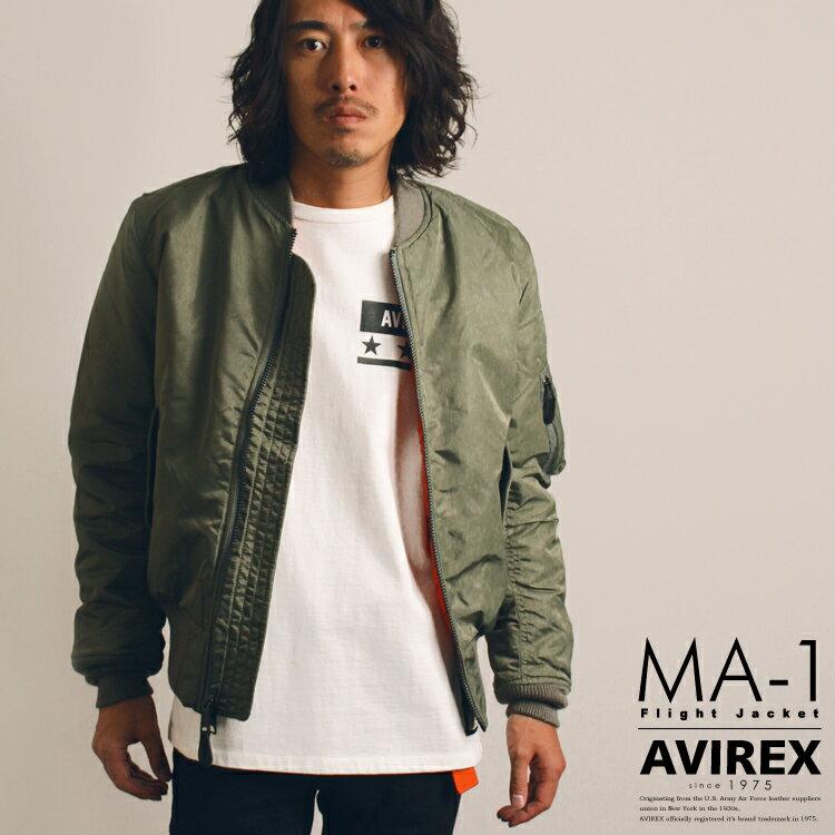 AVIREX 公式通販 今流行のエムエーワンが現在風シルエットにアップデートしたモデル登場!ボンバージャケットMA-1 COMMERCIAL(アビレックス/アヴィレックス)【送料無料】