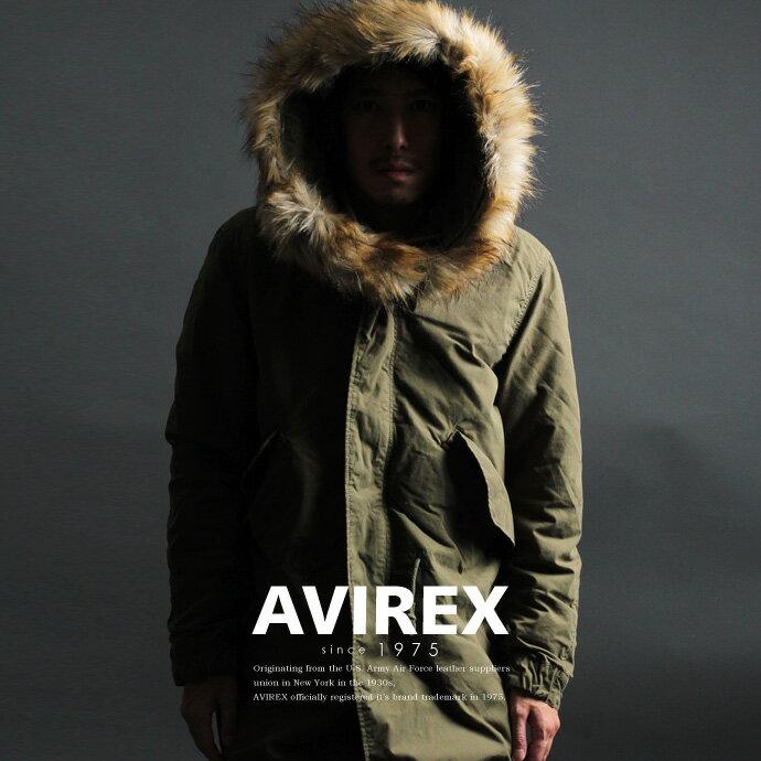 AVIREX 公式通販   フード&ライナー(裏地)の取外しが可能 秋冬モッズコート ミリタリーコートM-65 PARKA【送料無料】