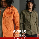 ★SALE | AVIREX 公式通販 | ロングスリーブ オーバー ダイド アーミー シャツL/S OVER DYED ARMY SHIRT【送料無料】※セール/アウトレット品につき交換 返品不可