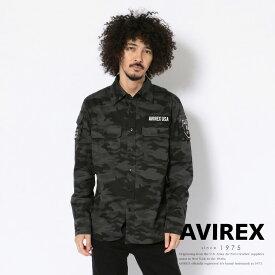 AVIREX 公式通販 | FATIGUE KHAKI SHIRT/長袖 ファティーグ カーキ シャツ【送料無料】(アビレックス アヴィレックス)メンズ 男性