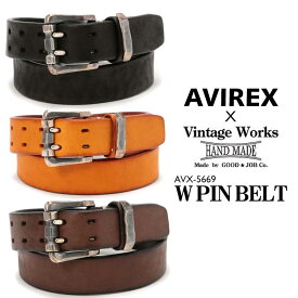 AVIREX 公式通販 | AVIREX×VINTAGE WORK/ダブル ピン ベルト/AVX-5669 W PIN BELT(アビレックス アヴィレックス)メンズ 男性