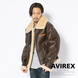 AVIREX 公式通販 | アメリカ製 B-3/FLIGHT JACKET ムートン フライトジャケット 冬アウター 防寒【送料無料】(アビレックス アヴィレックス)メンズ 男性 大きいサイズ