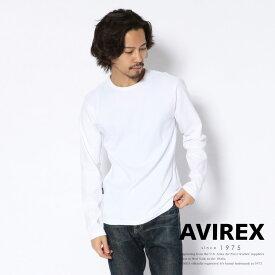 AVIREX 公式通販・DAILY WEAR | 長袖 ミニワッフル クルーネック Tシャツ/ L/S MINI WAFFLE CREW-NECK Tシャツ(アビレックス アヴィレックス)メンズ 男性