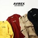 AVIREX 公式通販・オンライン限定 | スモールロゴの入ったシンプルなクルースウェット/ LOGO CREW SWEAT(アビレックス アヴィレックス)メンズ 男性 レディース 女性 男女兼用 ユニセックス
