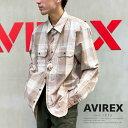 "AVIREX 公式通販   チェック刺繍シャツ/L/S CHECKERD ENBROIDERY SHIRT""AIRMANSHIP""(アビレックス アヴィレックス)メンズ 男性"