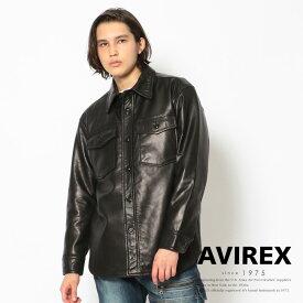AVIREX 公式通販   レザー シャツ / LEATHER CPO SHIRT / アヴィレックス / AVIREX(アビレックス アヴィレックス)