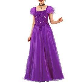 【ロングドレス】ケミカルレースストーンドレス KS-OP044-3595▼カラードレス ステージ衣装