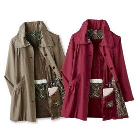 【レディースファッション】旅行に重宝こだわりコート ポーチ付き ST1801-16-8813▼ミセス 婦人服 アウター